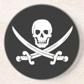 Regalos alegres del cráneo de Rogelio y del pirata Posavasos Cerveza