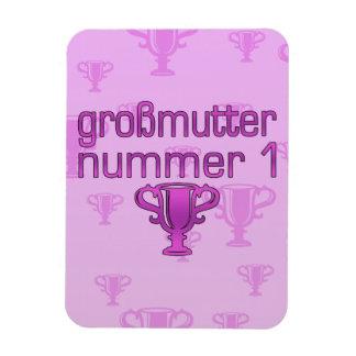 Regalos alemanes para las abuelas Großmutter Numm Imán De Vinilo