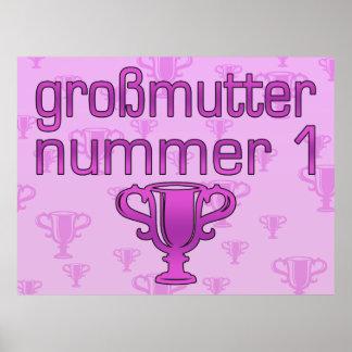 Regalos alemanes para las abuelas Großmutter Numm Posters