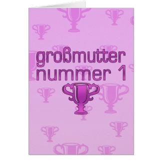 Regalos alemanes para las abuelas Großmutter Numm Felicitación