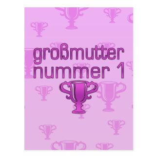 Regalos alemanes para las abuelas Großmutter Numm