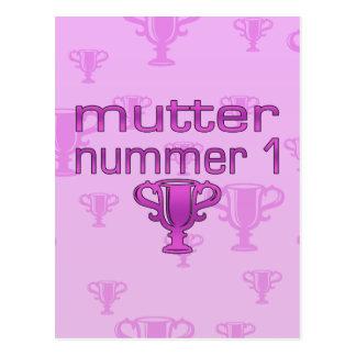 Regalos alemanes para las mamáes: Murmure Nummer 1 Postal