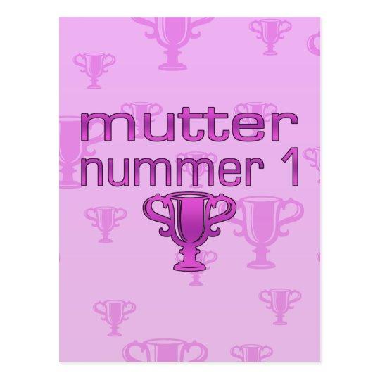 Regalos alemanes para las mamáes: Murmure Nummer 1 Tarjetas Postales
