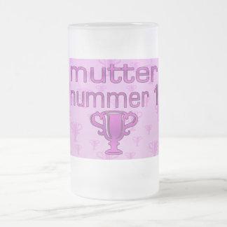 Regalos alemanes para las mamáes: Murmure Nummer 1 Taza De Cristal