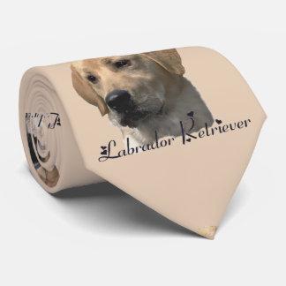 Regalos amarillos del arte del labrador retriever corbatas personalizadas