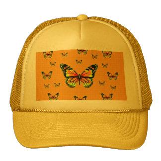 Regalos amarillos del azafrán de Butterflie del mo Gorros Bordados