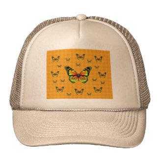 Regalos amarillos del azafrán de Butterflie del mo Gorro De Camionero
