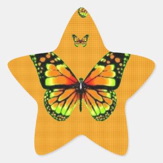 Regalos amarillos del azafrán de Butterflie del Pegatinas Forma De Estrellaes