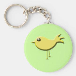 Regalos amarillos del pájaro llaveros personalizados