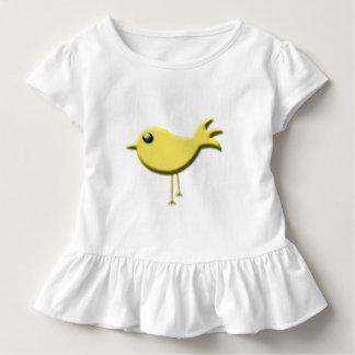 Regalos amarillos del pájaro playeras