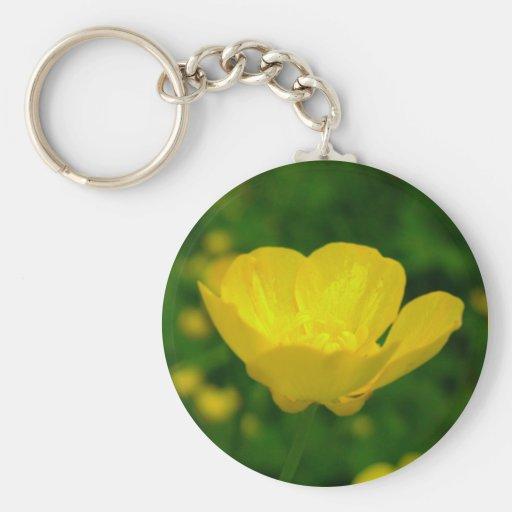 Regalos amarillos del Wildflower de los llaveros d