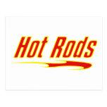 Regalos amarillos y candentes de Hotrod de la barr Postales