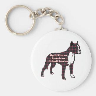 Regalos americanos de Terrier de pitbull Llavero Redondo Tipo Pin