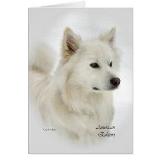 Regalos americanos del arte del perro esquimal tarjeta