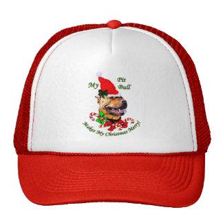 Regalos americanos del navidad de Terrier de pitbu Gorra