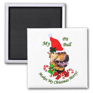 Regalos americanos del navidad de Terrier de pitbu Imán Para Frigorifico