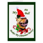 Regalos americanos del navidad de Terrier de pitbu Felicitacion