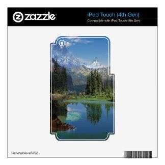 Regalos americanos hermosos de la montaña rocosa iPod touch 4G calcomanías