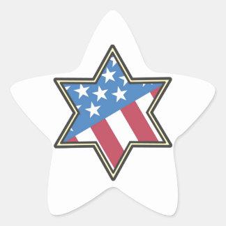 Regalos americanos judíos para Jánuca Pegatina En Forma De Estrella