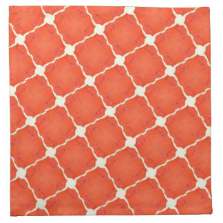 Regalos anaranjados del modelo de rejilla de la te servilletas de papel