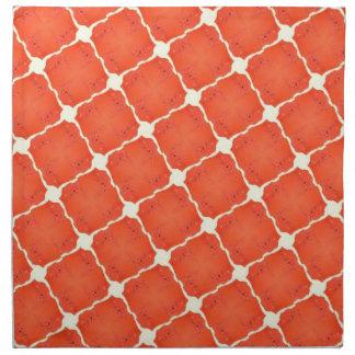 Regalos anaranjados del modelo de rejilla de la te servilletas