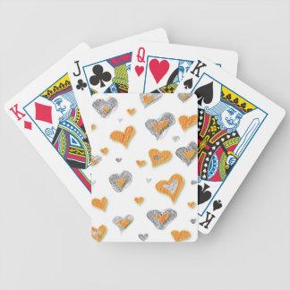 Regalos anaranjados grises de moda del modelo del cartas de juego