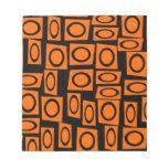 Regalos anaranjados negros del modelo del cuadrado libretas para notas