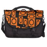 Regalos anaranjados negros del modelo del cuadrado bolsas de portatil