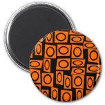Regalos anaranjados negros del modelo del cuadrado imán de nevera