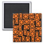 Regalos anaranjados negros del modelo del cuadrado iman de nevera