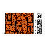 Regalos anaranjados negros del modelo del cuadrado franqueo