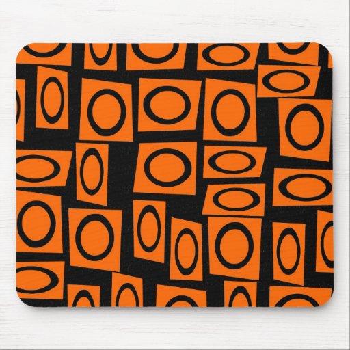 Regalos anaranjados negros del modelo del cuadrado tapetes de raton