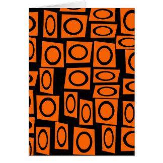 Regalos anaranjados negros del modelo del cuadrado tarjeta de felicitación