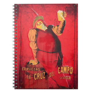 Regalos Anuncio Cerveza Vintage RetroCharms Notebook
