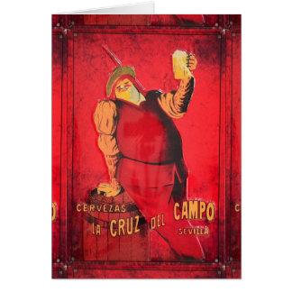 Regalos Anuncio Cerveza Vintage RetroCharms Tarjeta De Felicitación