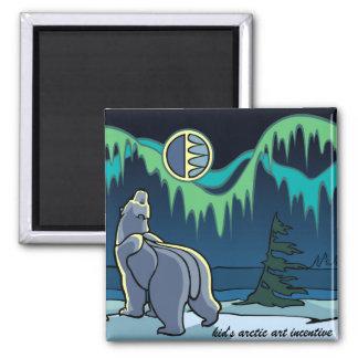 Regalos árticos del arte del oso polar del imán de