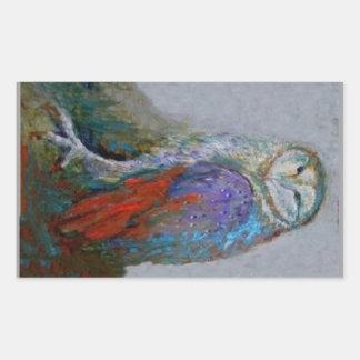 Regalos artísticos de la lechuza común por Sharles Pegatina Rectangular