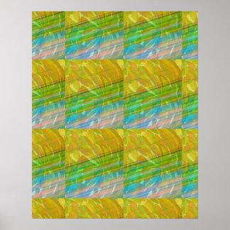 REGALOS artísticos verdes de oro del gráfico del Póster