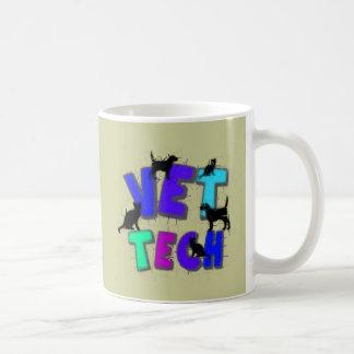 Regalos artsy de la tecnología del veterinario, di taza básica blanca