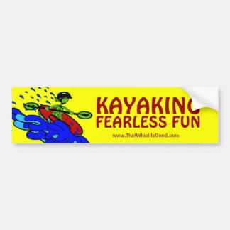 Regalos audazes Kayaking de la diversión Pegatina Para Auto