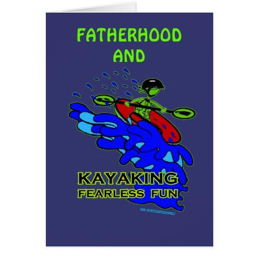 Regalos audazes Kayaking de la diversión Tarjeta De Felicitación