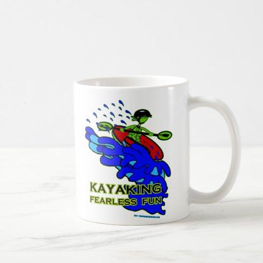 Regalos audazes Kayaking de la diversión Taza De Café