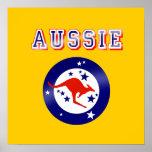 Regalos australianos del logotipo del emblema de l póster
