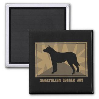 Regalos australianos terrosos del perro del ganado imán cuadrado
