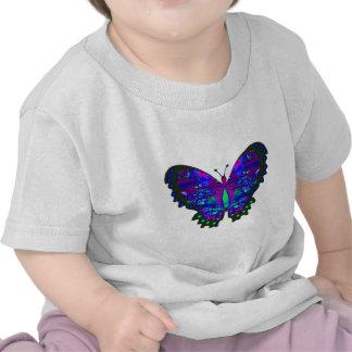 Regalos azules abstractos de la mariposa de Valxar Camiseta