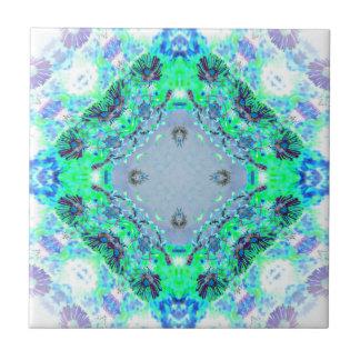 Regalos azules claros y verdes de los diseños de azulejo cuadrado pequeño