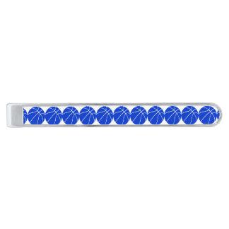 Regalos azules de encargo del baloncesto alfiler de corbata plateado