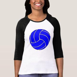 Regalos azules de encargo del voleibol camisas