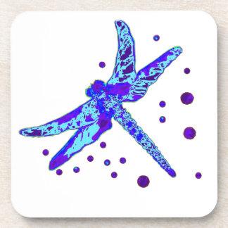 Regalos azules de la libélula por Sharles Posavasos De Bebidas