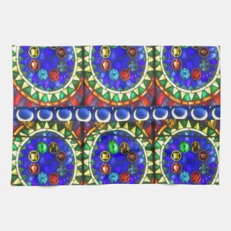 Regalos azules del diseño del estilo del asilo del toalla